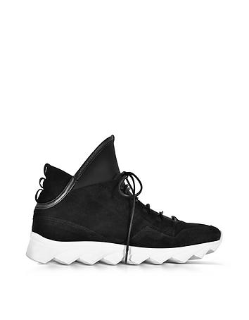 Ylati - Dedalo Black Nubuck and Nappa Leather Men's Sneakers
