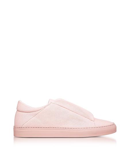Image of Ylati Nerone Sneakers da Uomo in Pelle Traforata Rosa Pastello
