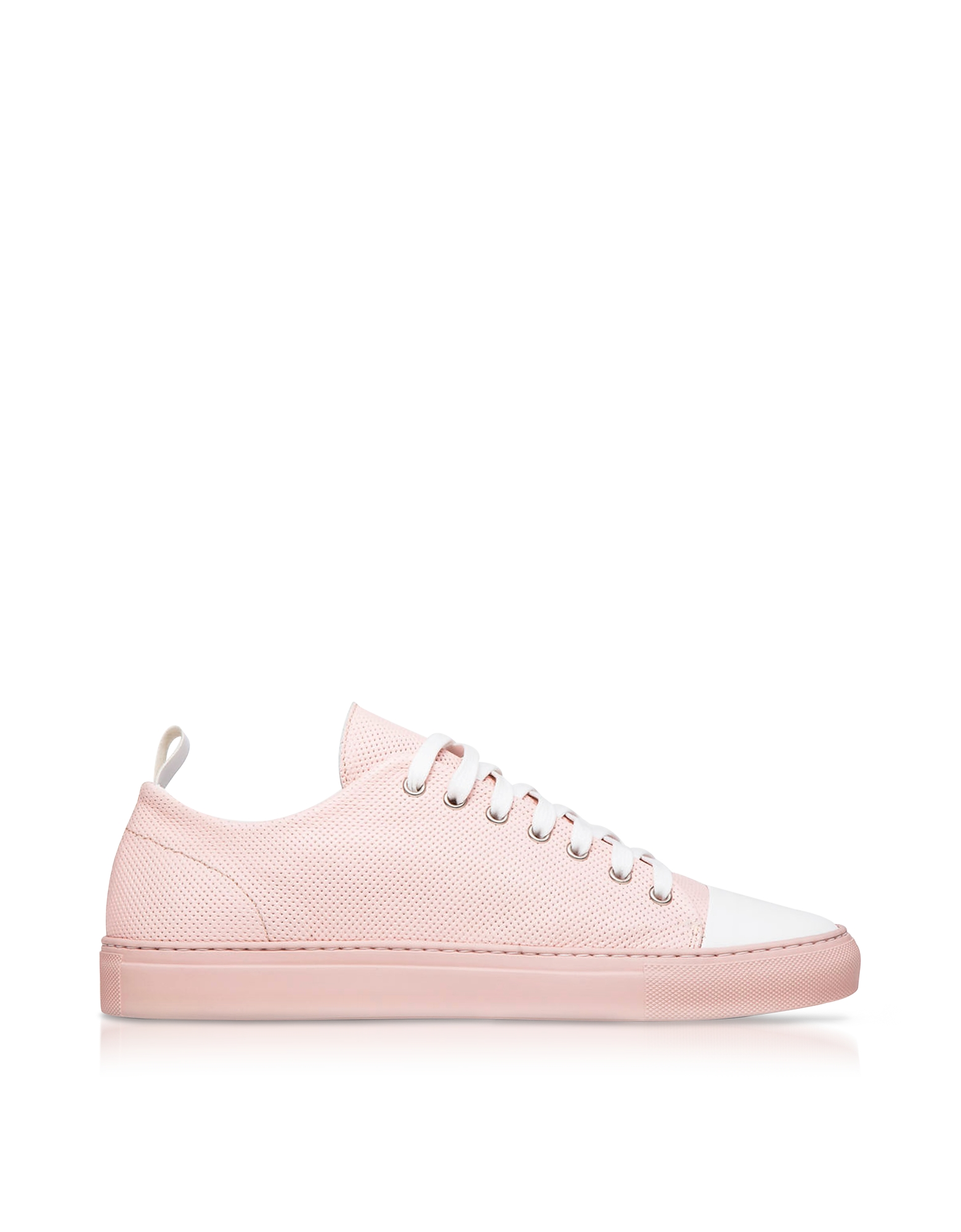 Ylati Sorrento Pink Perforated Leather Low Top Men's Sneakers