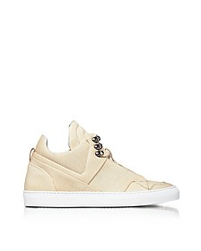 Poseidon Crust Perforated Leather High Top Men's Sneakers - Ylati