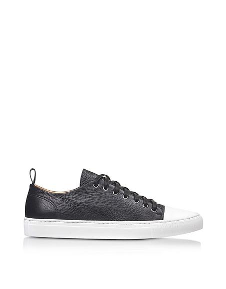 Foto Ylati Sorrento Sneaker Low Top in Pelle Nera Scarpe