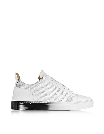 Ylati - Amalfi Low 2.0 White Laser Cut Leather Men's Sneaker