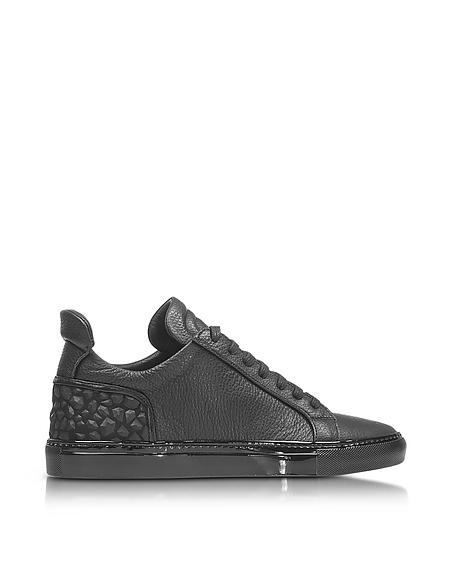 Foto Ylati Amalfi Low 2.0 Sneaker in Pelle Nera Diamond Scarpe