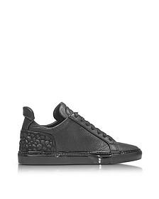 Amalfi Low 2.0 Black Diamonds Leather Men's Sneaker - Ylati