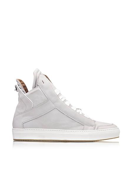 Image of Ylati Zeus Upper Sneaker High Top in Nabuk Bianco