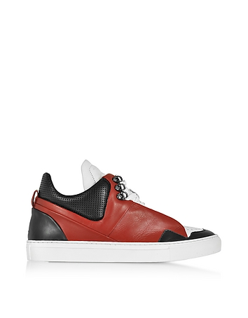 Ylati - Poseidon Upper Red & Black Leather Men's Sneaker