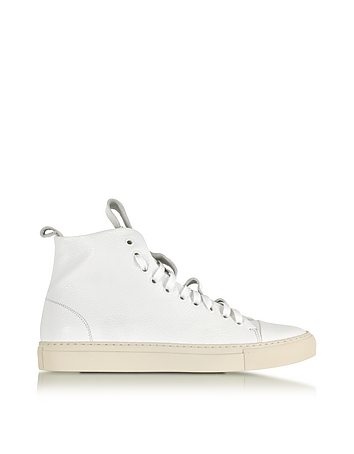 Sorrento White Leather High Top Sneaker
