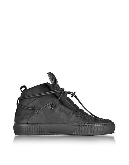 Foto Ylati Ulisse Sneaker da Uomo in Pelle Nera Scarpe