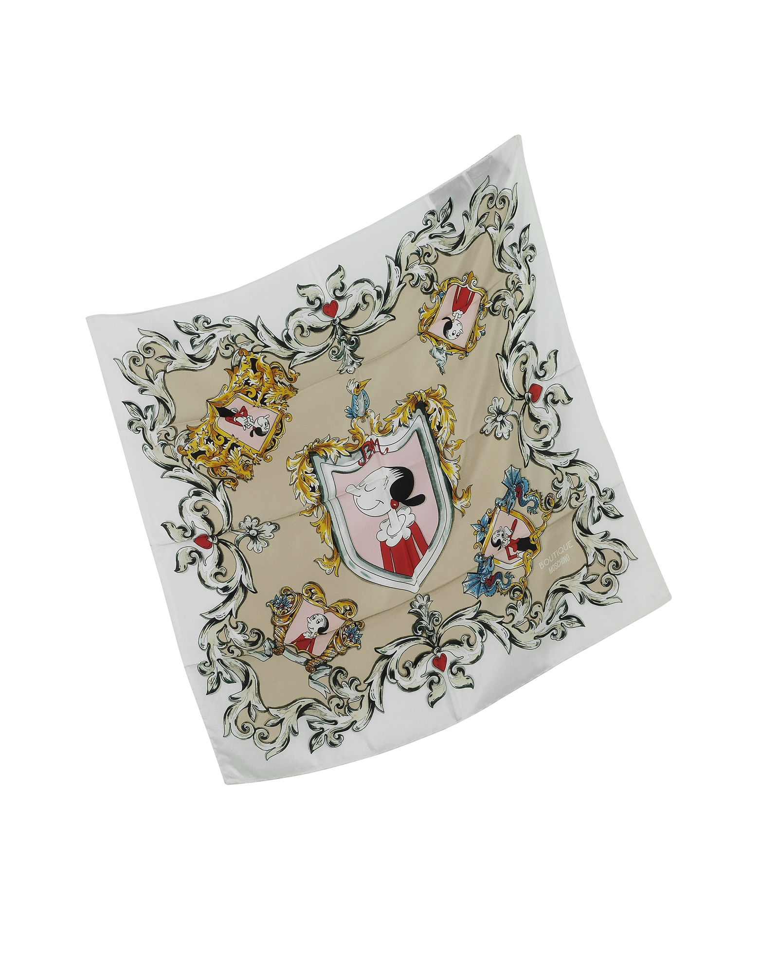 Boutique Moschino Olive Oyl Cartoon Print Crepe Silk Bandana от Forzieri.com INT