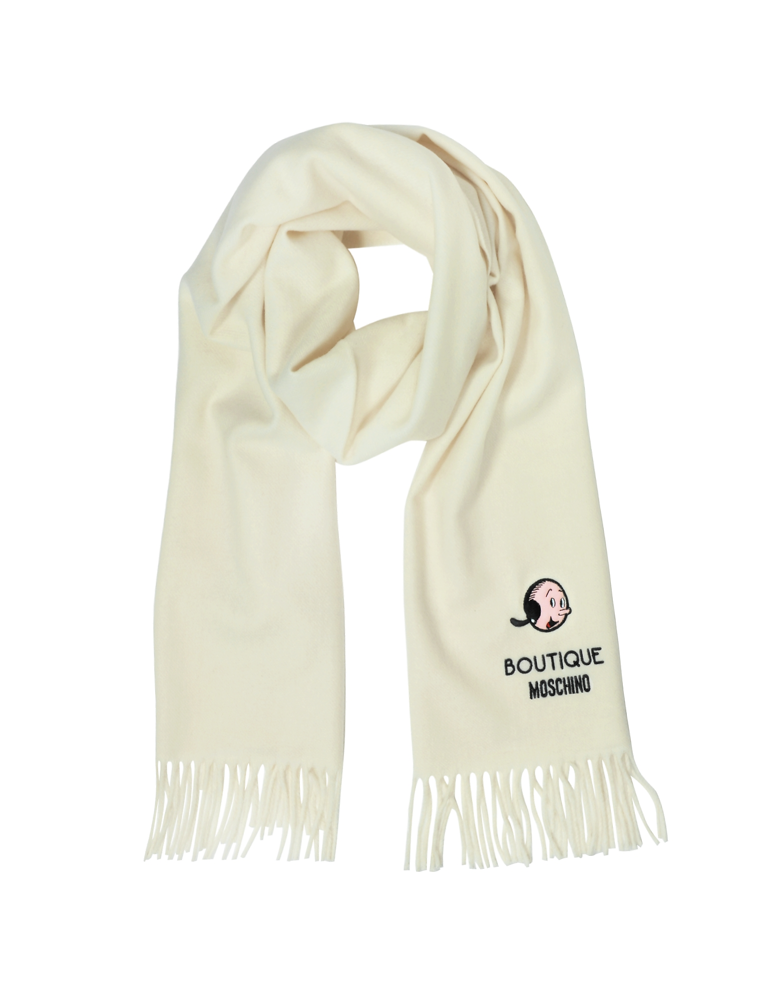 Solid Wool Olive Oil Long Scarf w/Fringe от Forzieri INT
