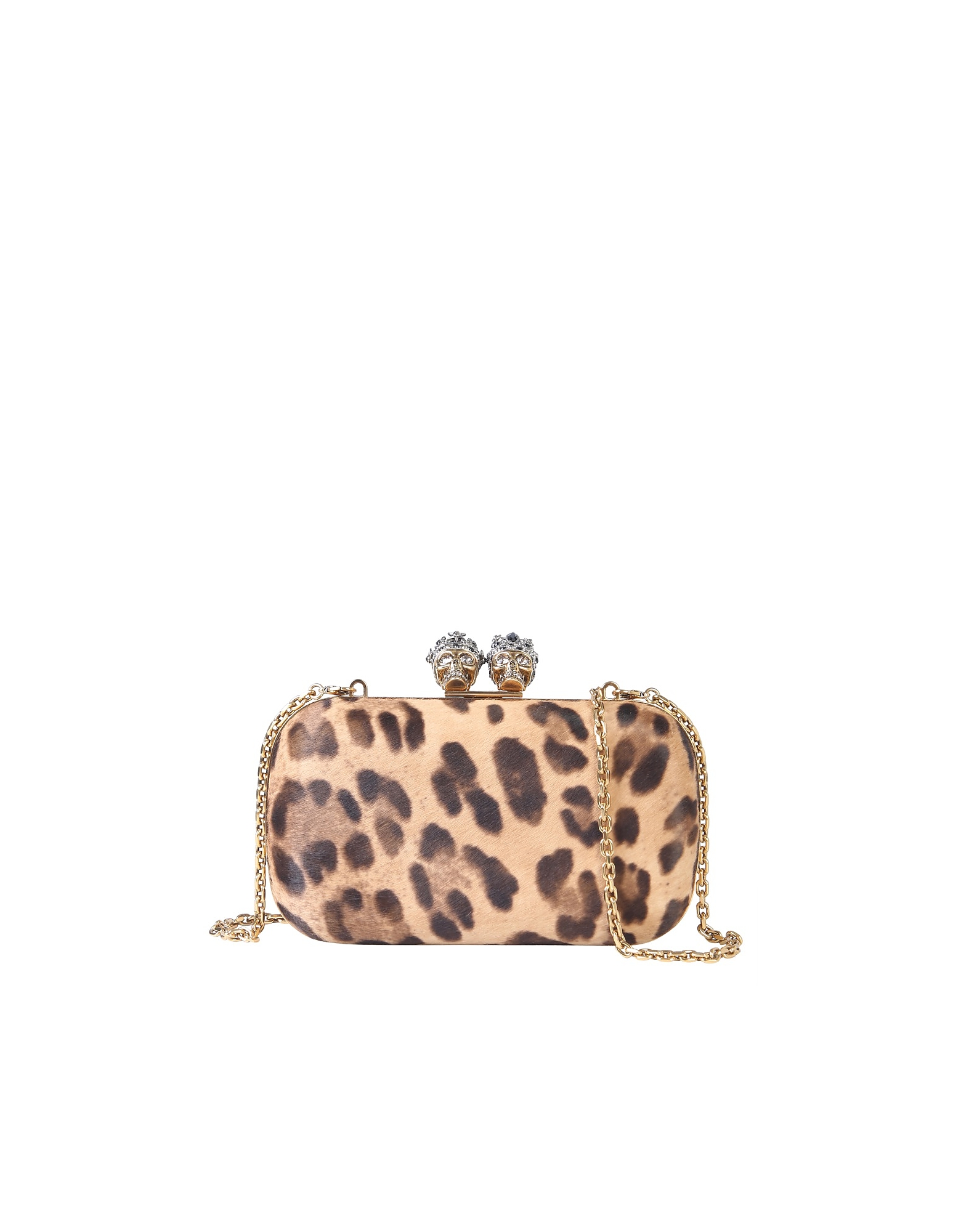 Alexander McQueen Designer Handbags, Queen And King Skull Clutch
