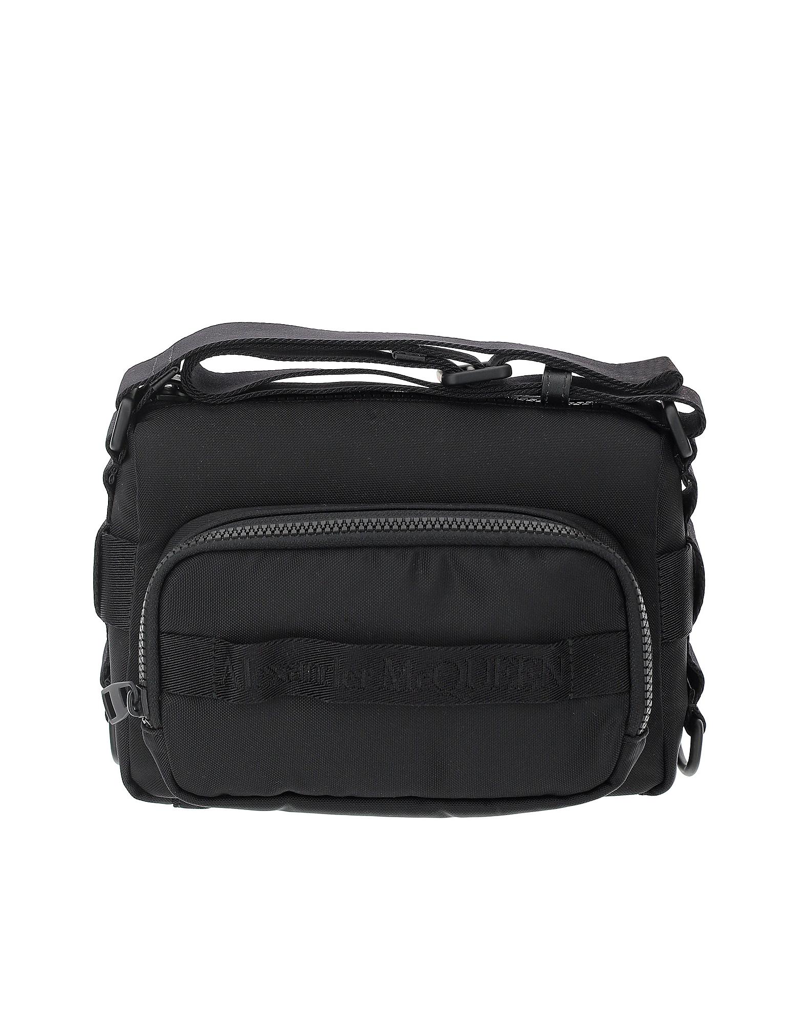 Alexander McQueen Designer Men's Bags, Black Technical Nylon Urban Camera Bag