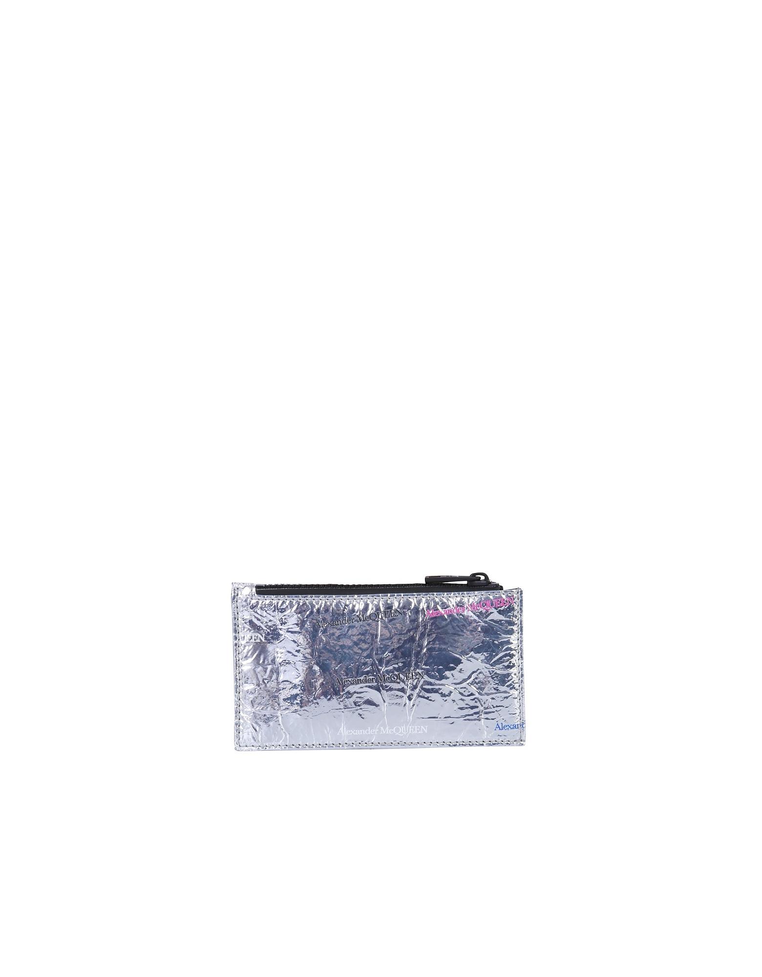 Alexander McQueen Designer Men's Bags, Card Holder With Logo
