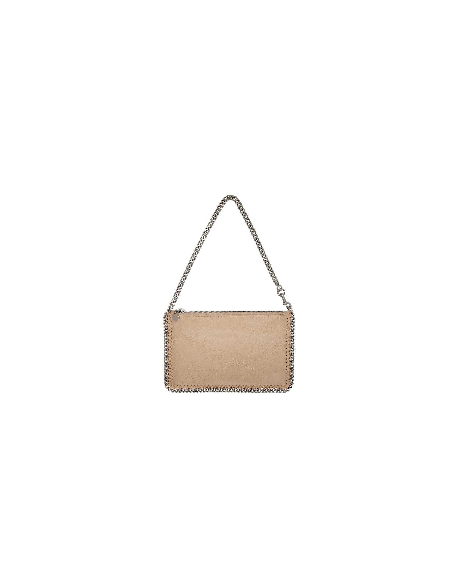 Stella McCartney Designer Handbags, Beige Falabella Pouch