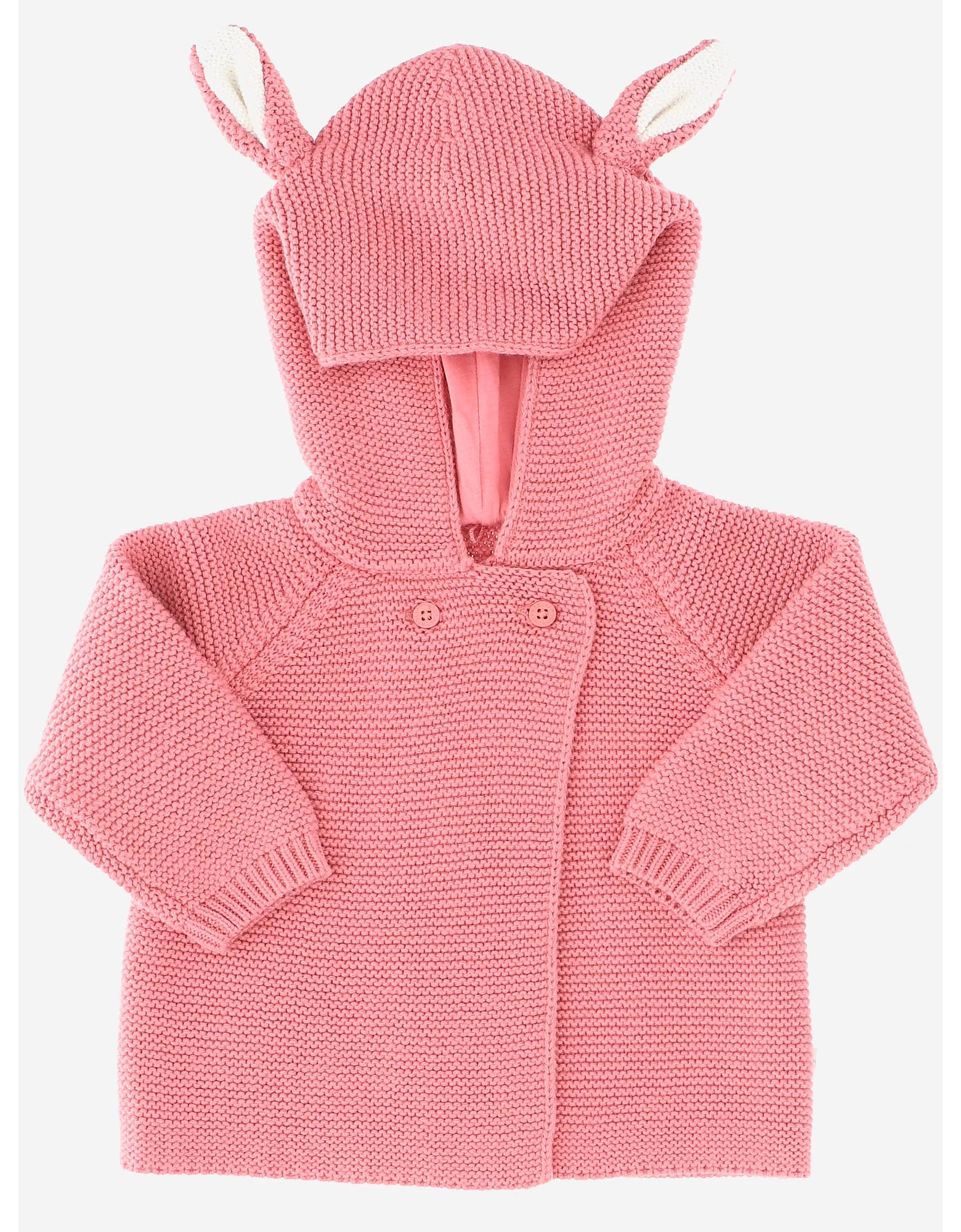 Stella McCartney Designer Girl's Clothing, Hooded Cotton Blend knit Girl's Cardigan