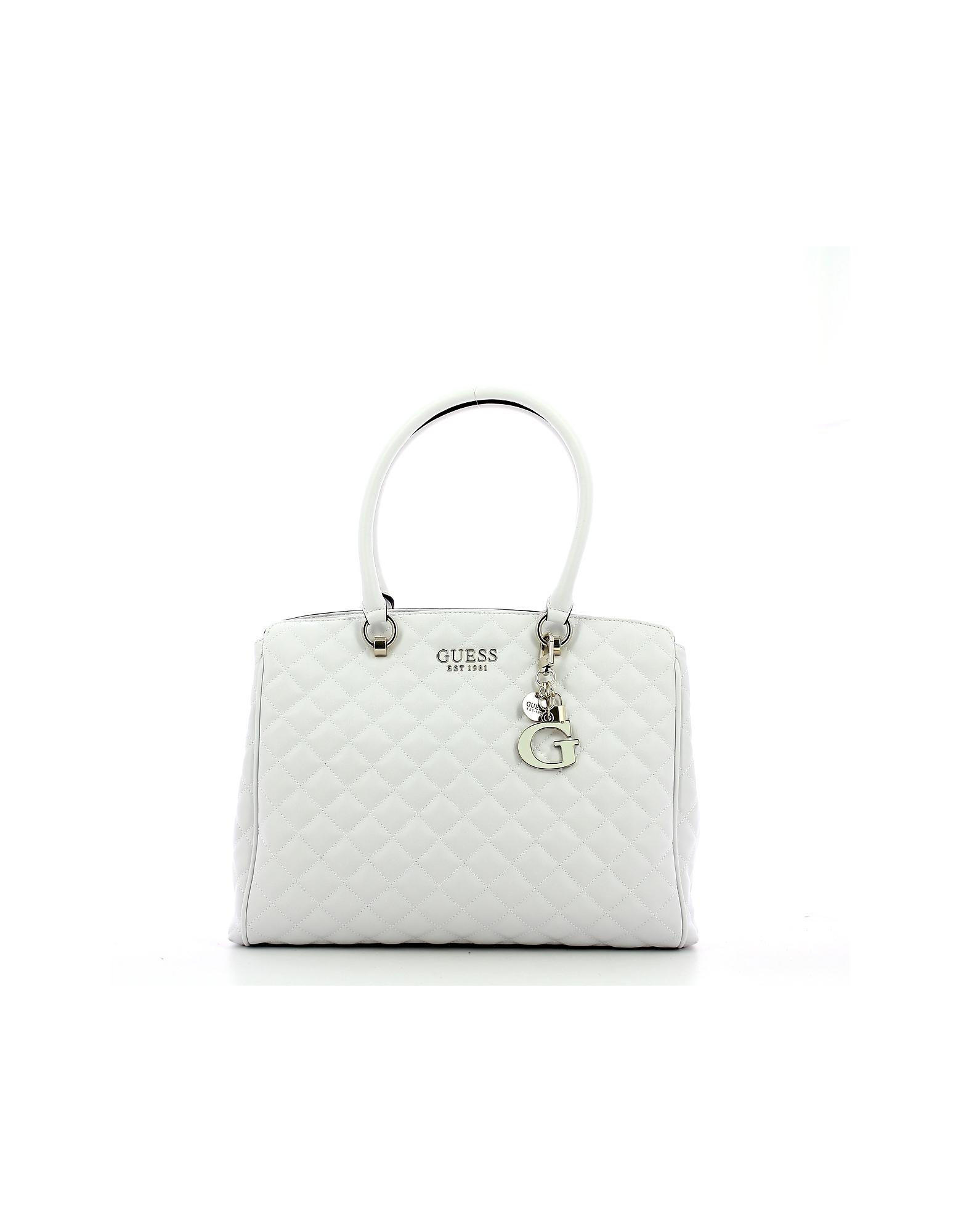 Guess Designer Handbags, Women's White Bag