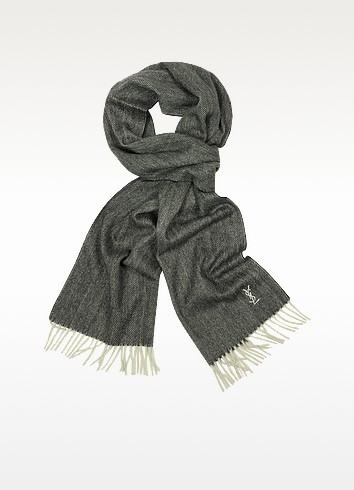 Herringbone Cashmere Scarf - Saint Laurent