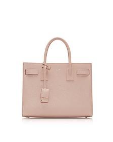 Classic Baby Pink Grained Leather Sac De Jour Bag - Saint Laurent