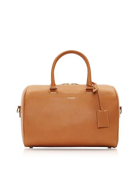 Foto Saint Laurent Duffle 6 Bag Bauletto in Pelle Cognac Borse donna