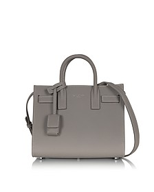 Gray Leather Classic Nano Sac de Jour Bag  - Saint Laurent