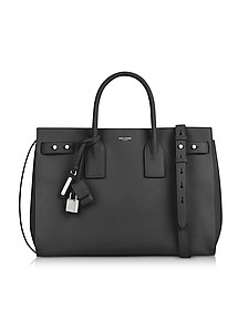 Sac de Jour Medium Black Leather Tote - Saint Laurent