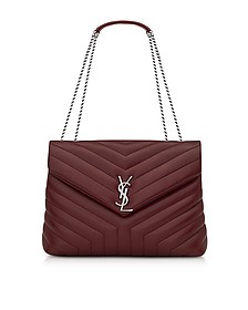 Palissandre Medium Loulou Monogram Chain Shoulder Bag  - Saint Laurent