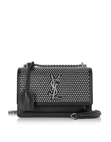 Saint Laurent - Small Sunset Monogram Shoulder Bag w/Flat Studs