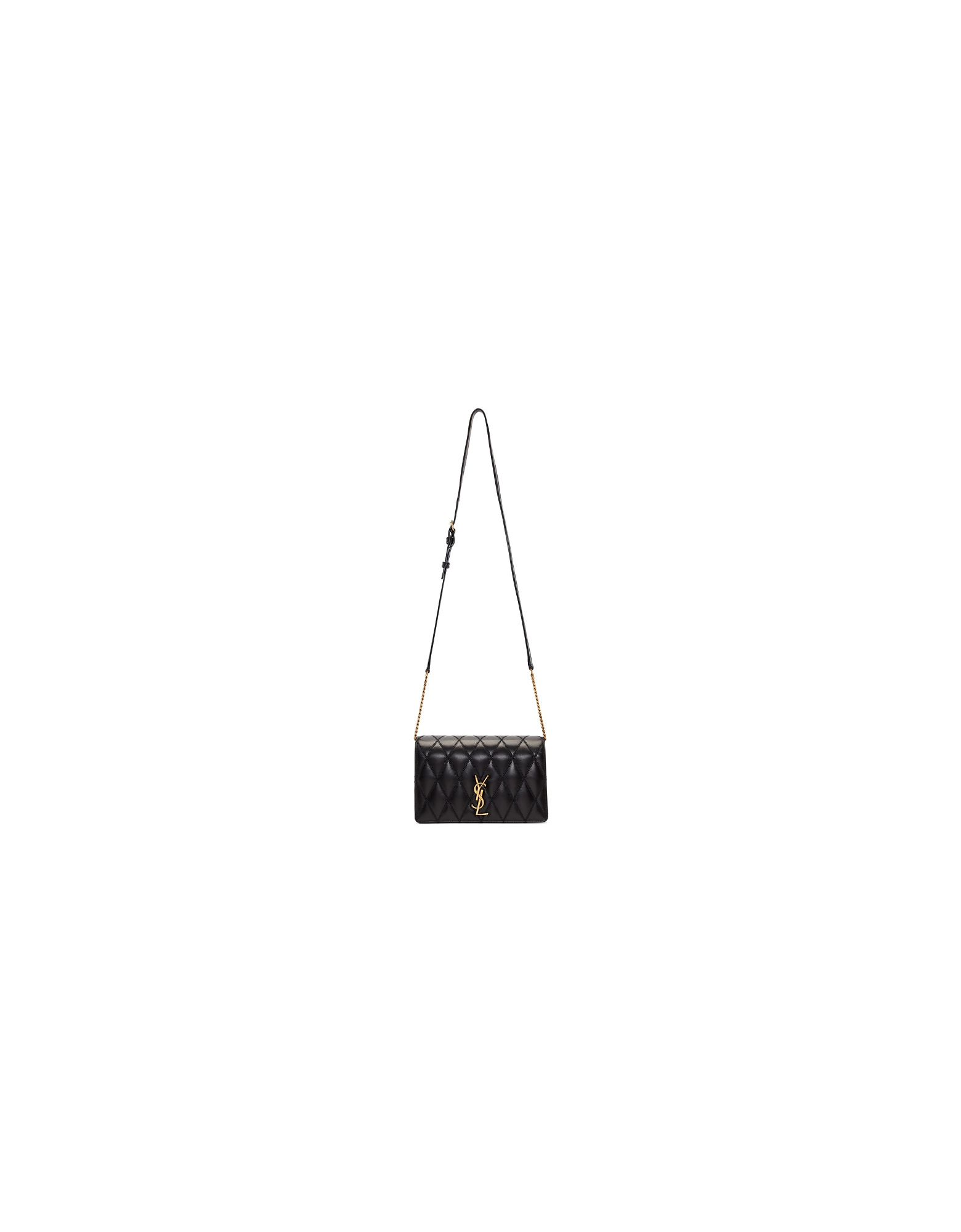 Saint Laurent Designer Handbags, Black Angie Chain Bag