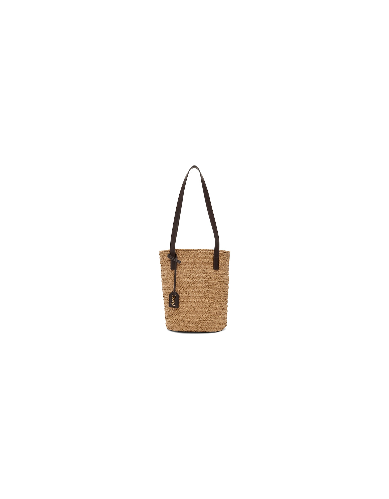 Saint Laurent Designer Handbags, Beige Small Panier Tote