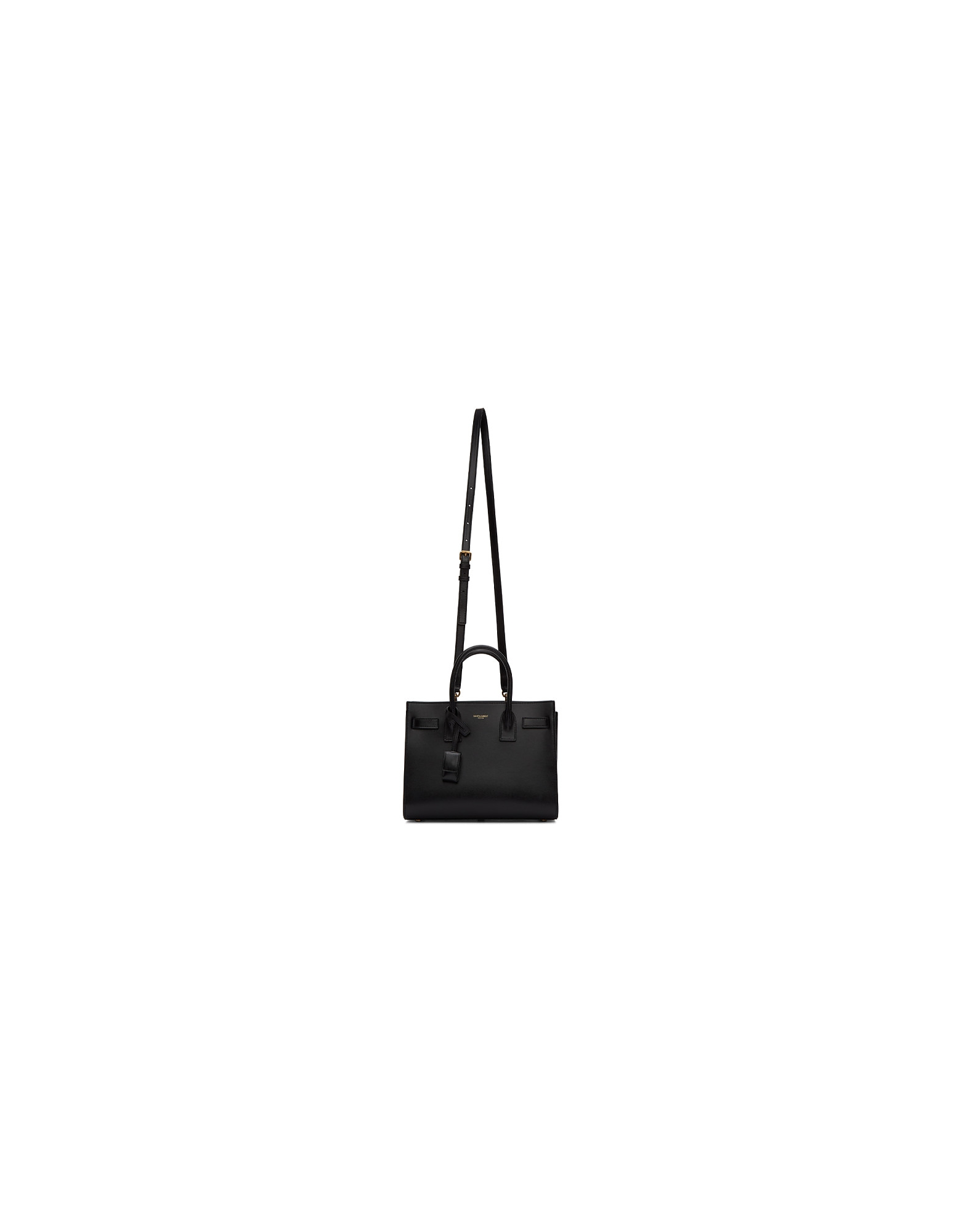Saint Laurent Designer Handbags, Black Baby Nano Sac De Jour Tote