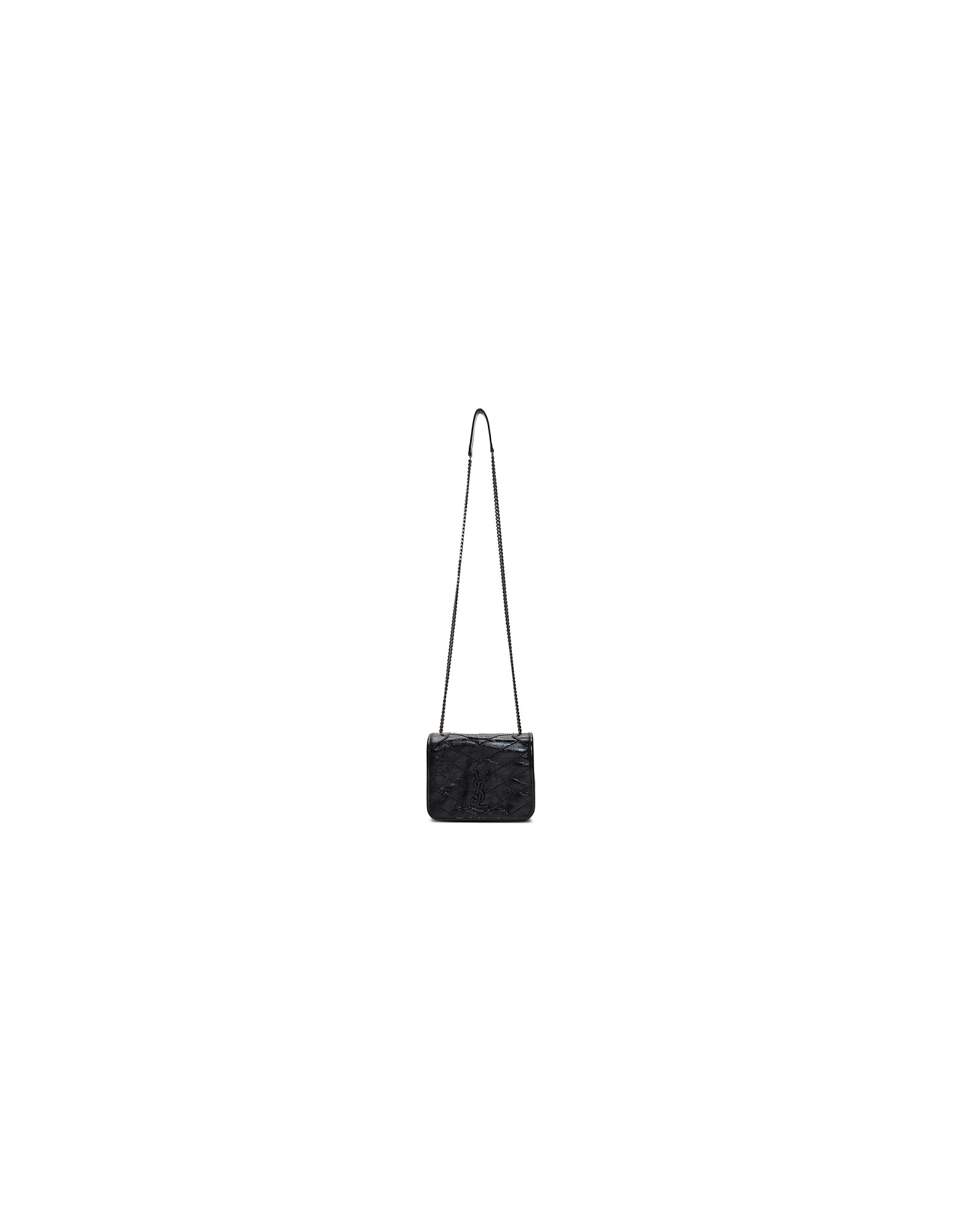 Saint Laurent Designer Handbags, Black Baby Niki Chain Wallet Bag