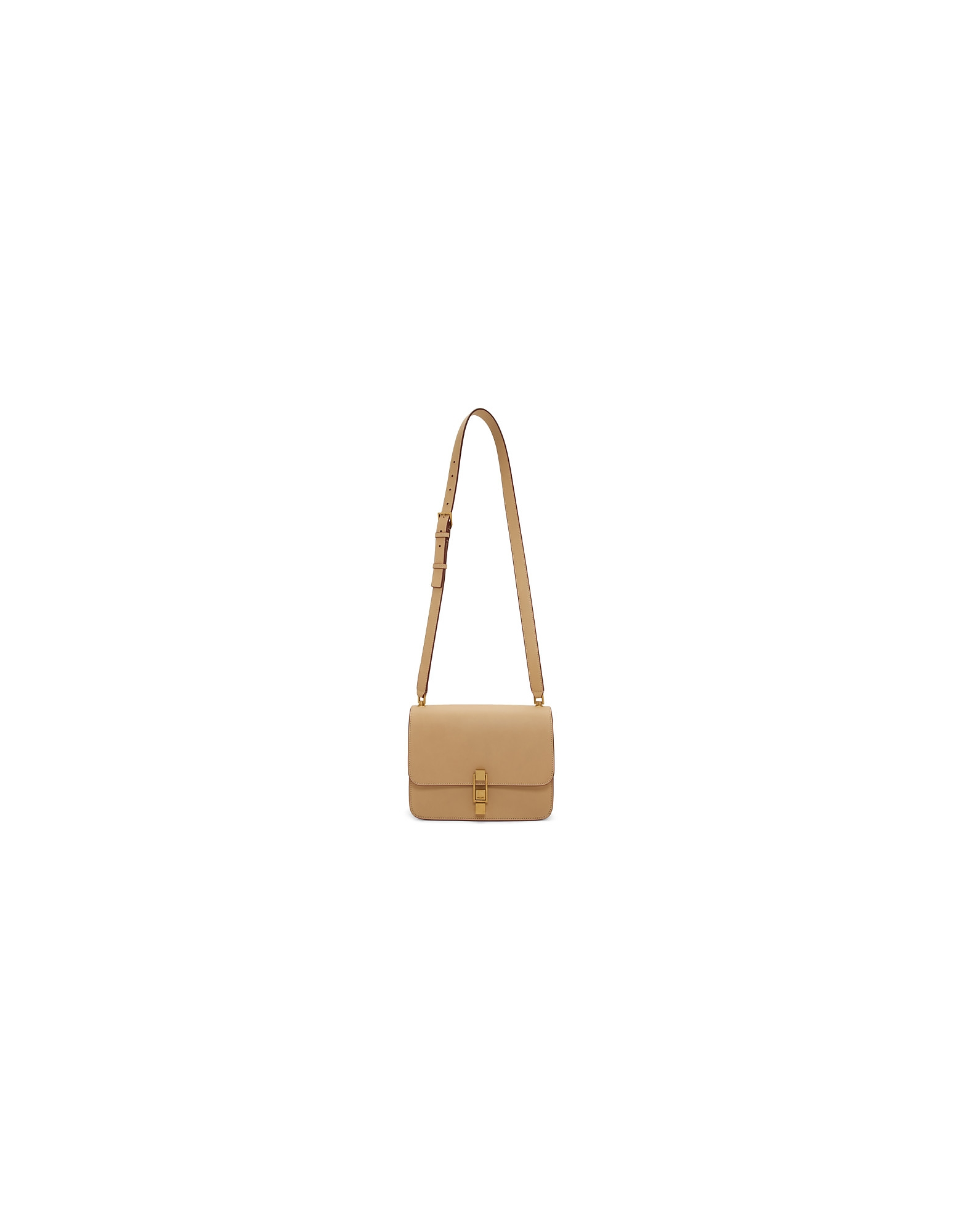 Saint Laurent Designer Handbags, Beige Carre Satchel Bag