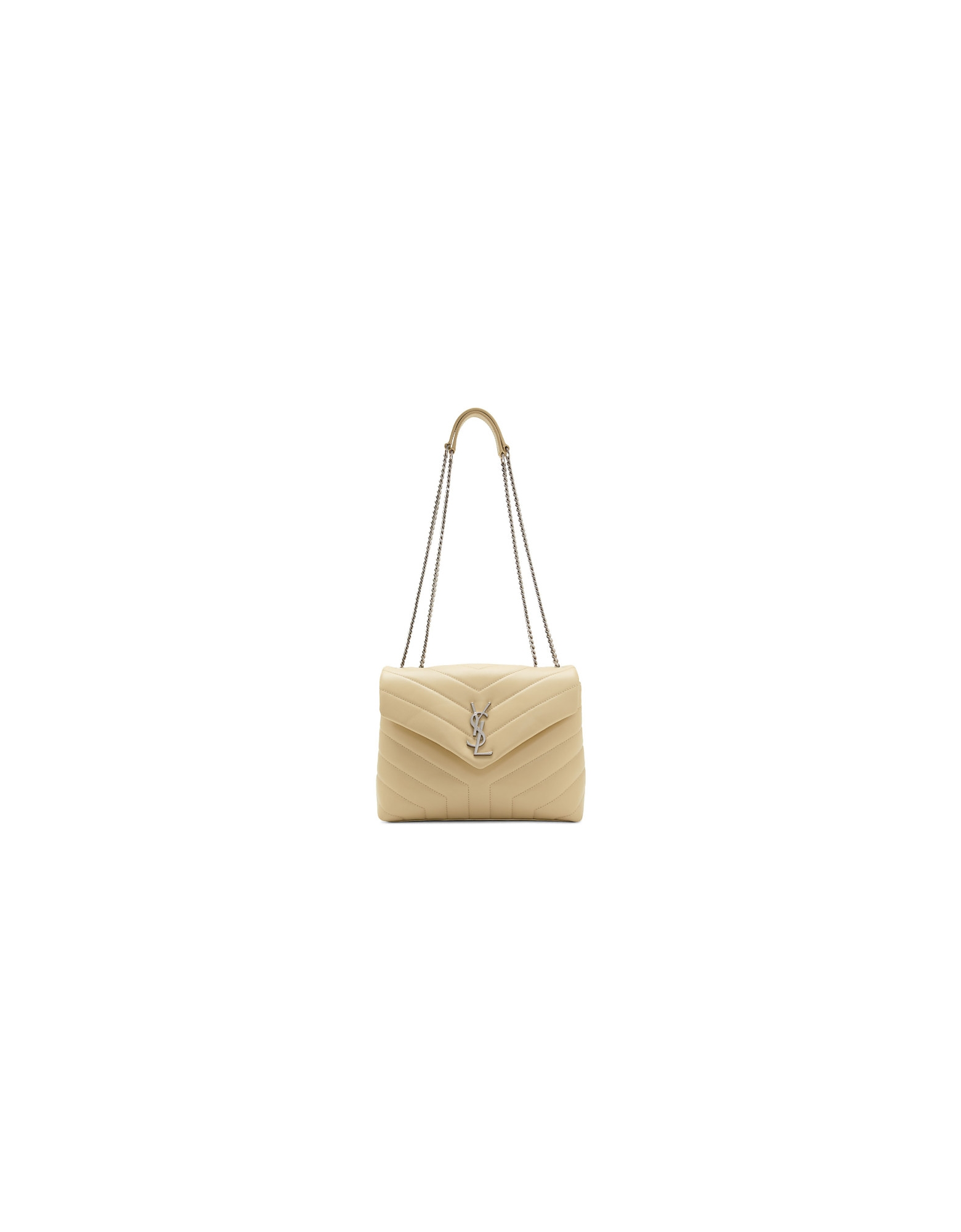 Saint Laurent Designer Handbags, Beige Small Loulou Bag