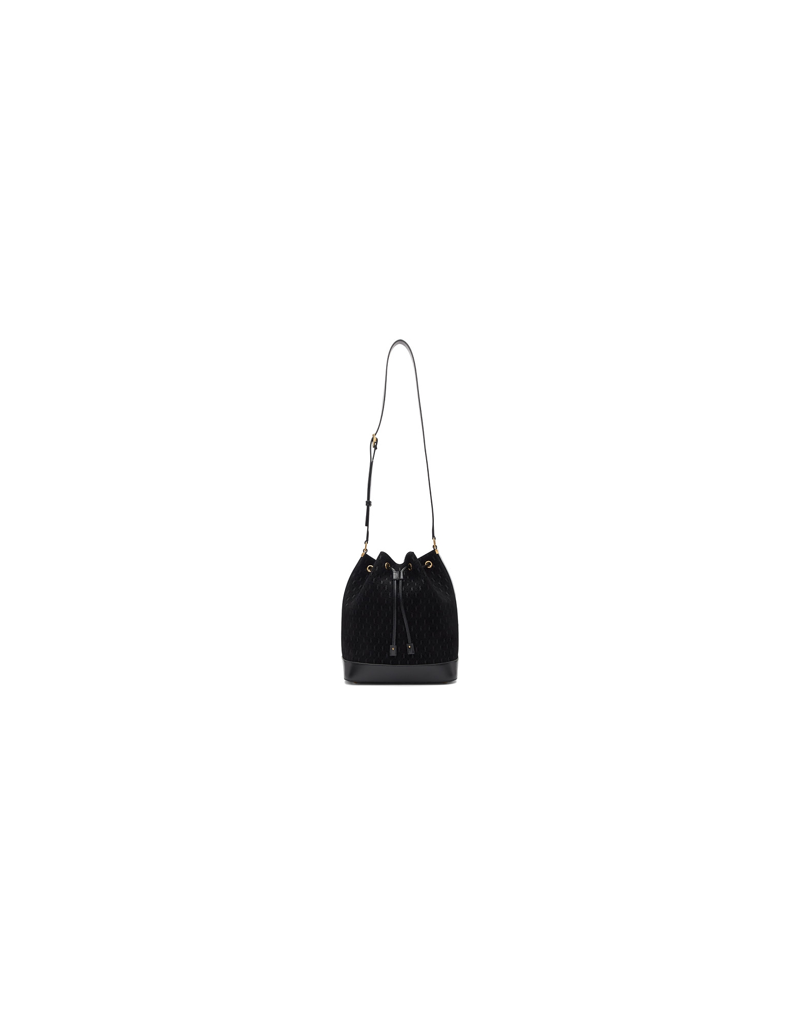 Saint Laurent Designer Handbags, Black All-Over Monogramme Philadelphia Bag
