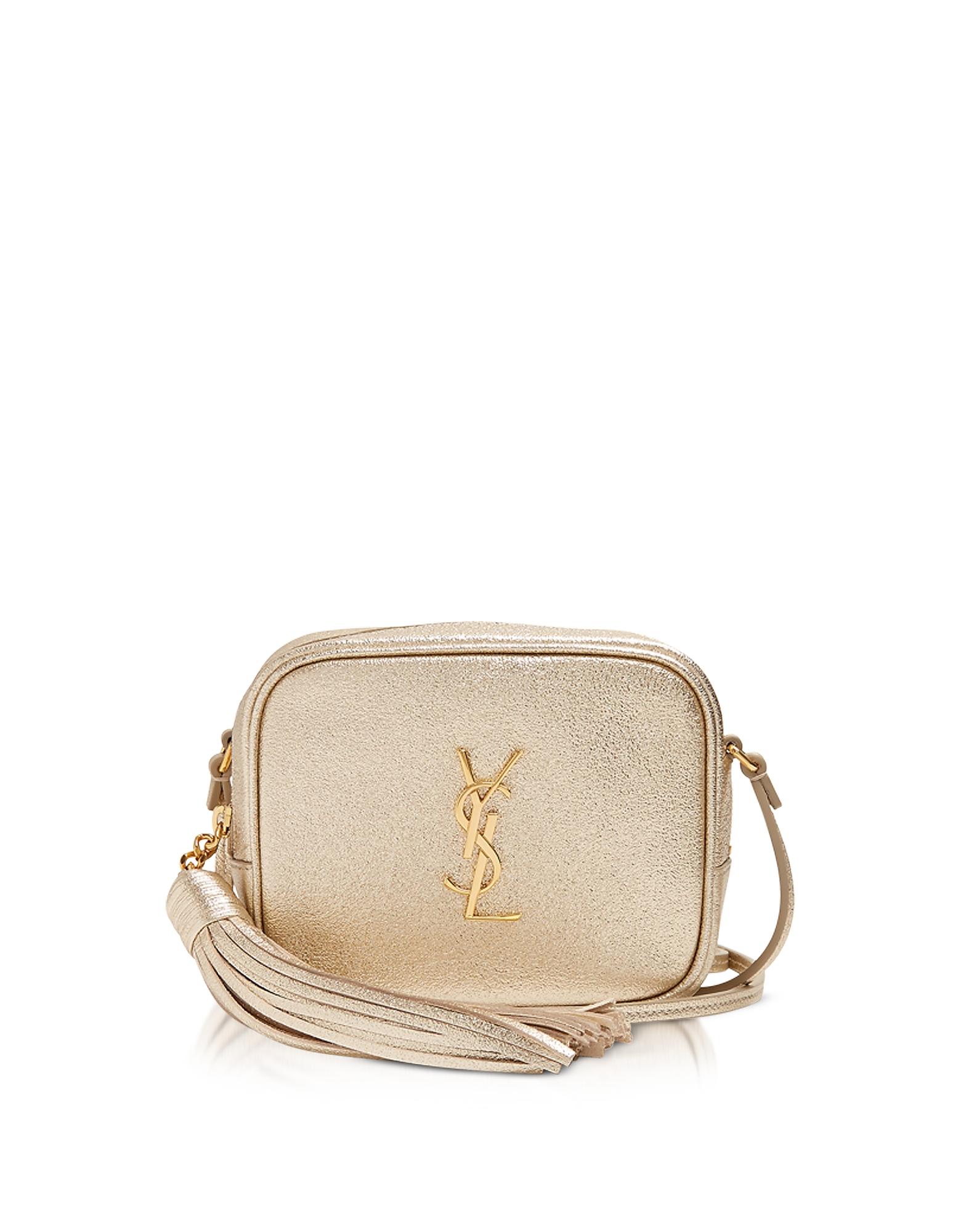 Gold Leather Blogger Shoulder Bag