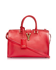 Cabas Y Red Leather Tote - Saint Laurent