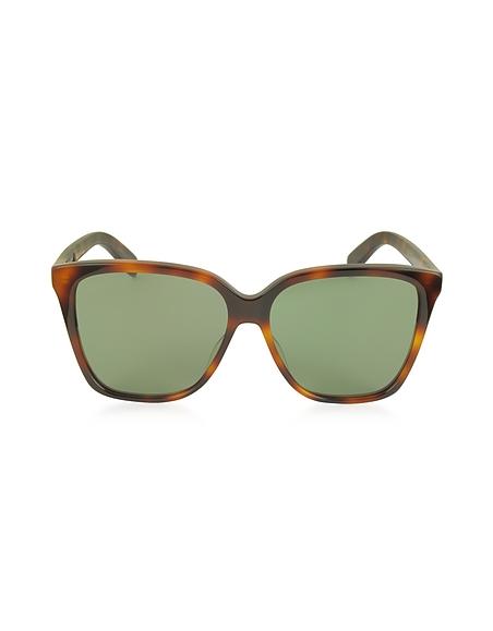 Saint Laurent SL 175 Large Damen-Sonnenbrille aus Acetat in quadratischer Form