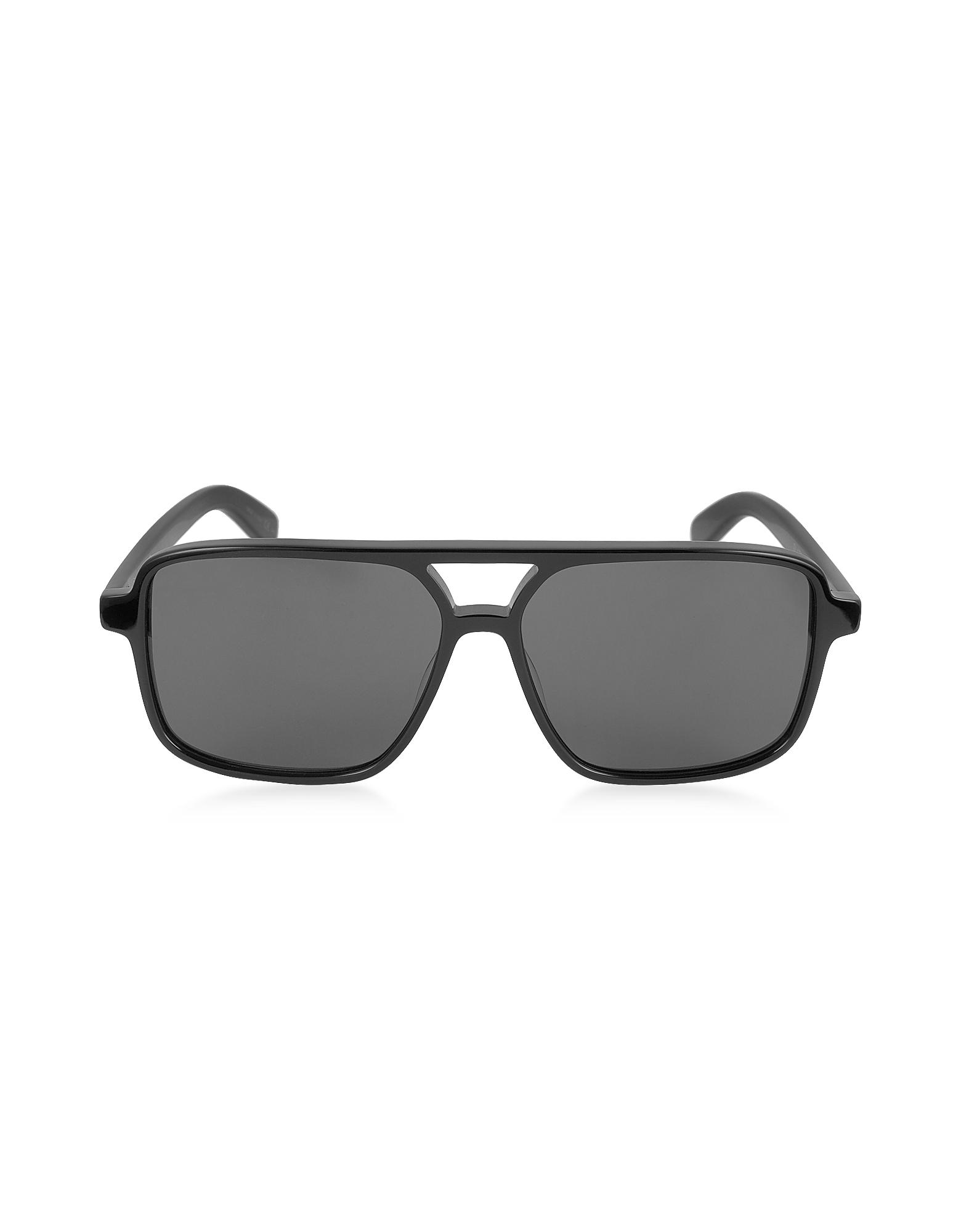 Saint Laurent Sunglasses, SL 176 Acetate Shield Frame Unisex Sunglasses