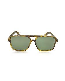 SL 176 Acetate Shield Frame Unisex Sunglasses - Saint Laurent
