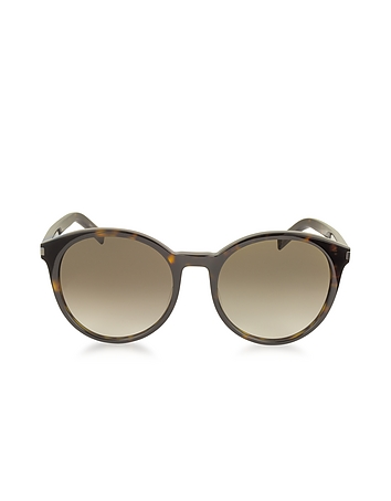 b0e9da70a4ad2 Classic 6 Acetate Round-Frame Women s Sunglasses from Saint Laurent ...