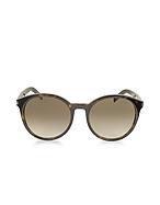 Saint Laurent Classic 6 Damen Sonnenbrille mit runden Gläsern aus Acetat yv470017-004-00