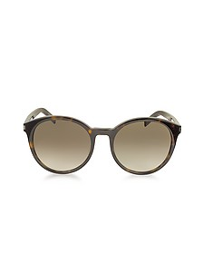 Classic 6 Acetate Round-Frame Women's Sunglasses - Saint Laurent