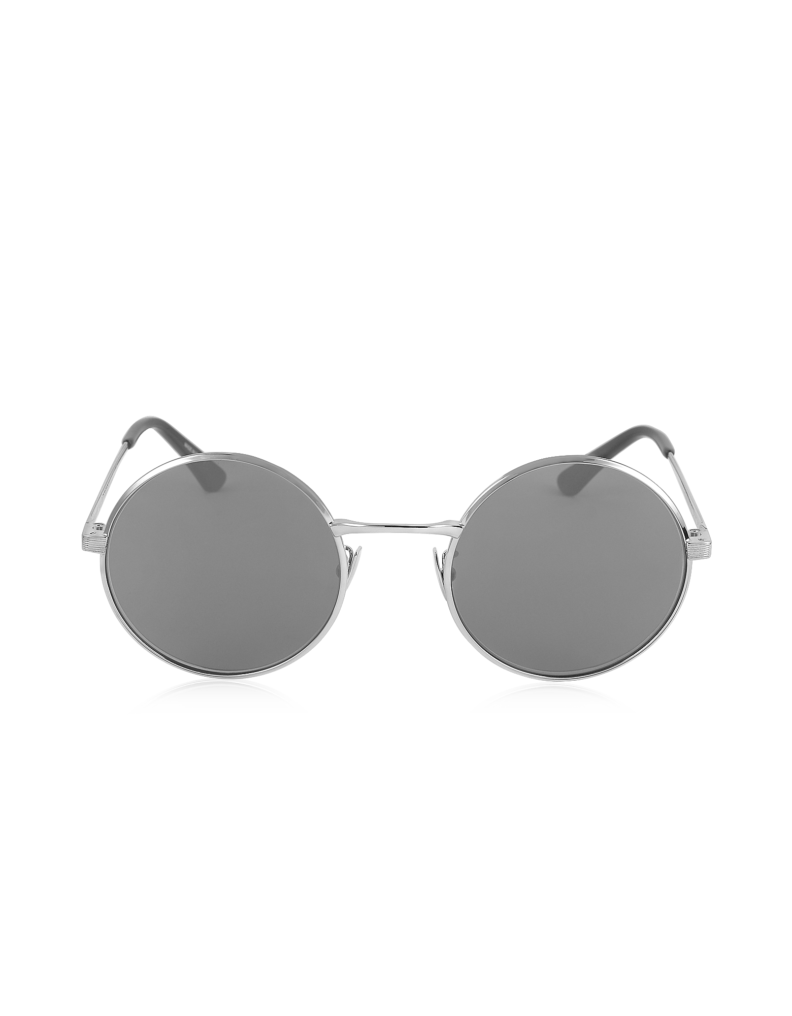 Saint Laurent Sunglasses, SL 136 ZERO Palladium Gray Metal Round-Frame Unisex Sunglasses