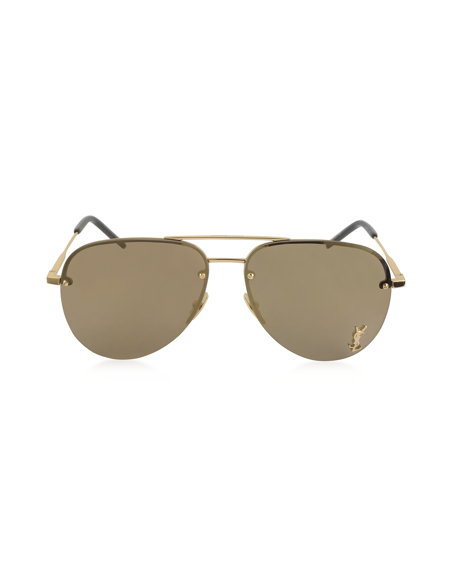 Saint Laurent Sunglasses, Classic 11M Signature Metal Aviator Unisex Sunglasses