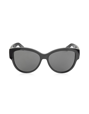 Saint Laurent - SL M3 002 Black Acetate Round Frame Women's Sunglasses