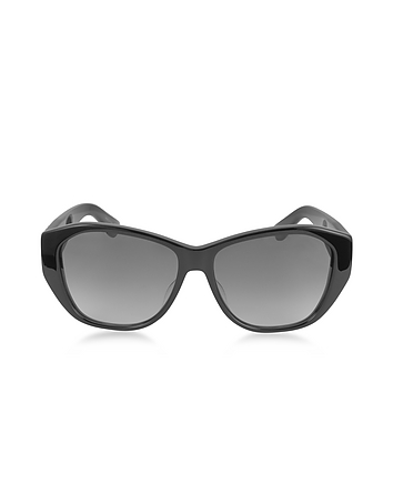 Saint Laurent - SL M8 001 Oversized Black Oval-Frame Acetate Women's Sunglasses