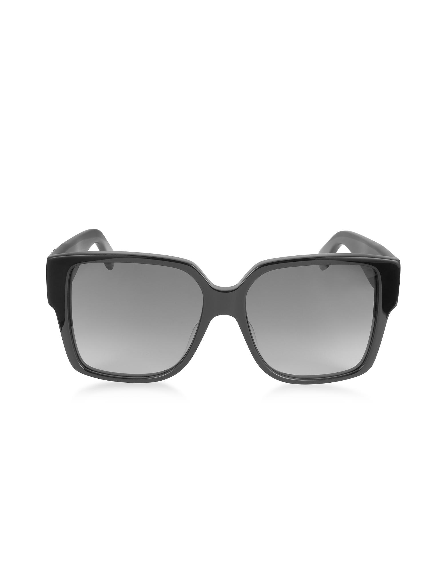 Фото SL M9 002 - Большие Черные Солнечные Очки Унисекс в Квадратной Оправе из Ацетата. Купить с доставкой