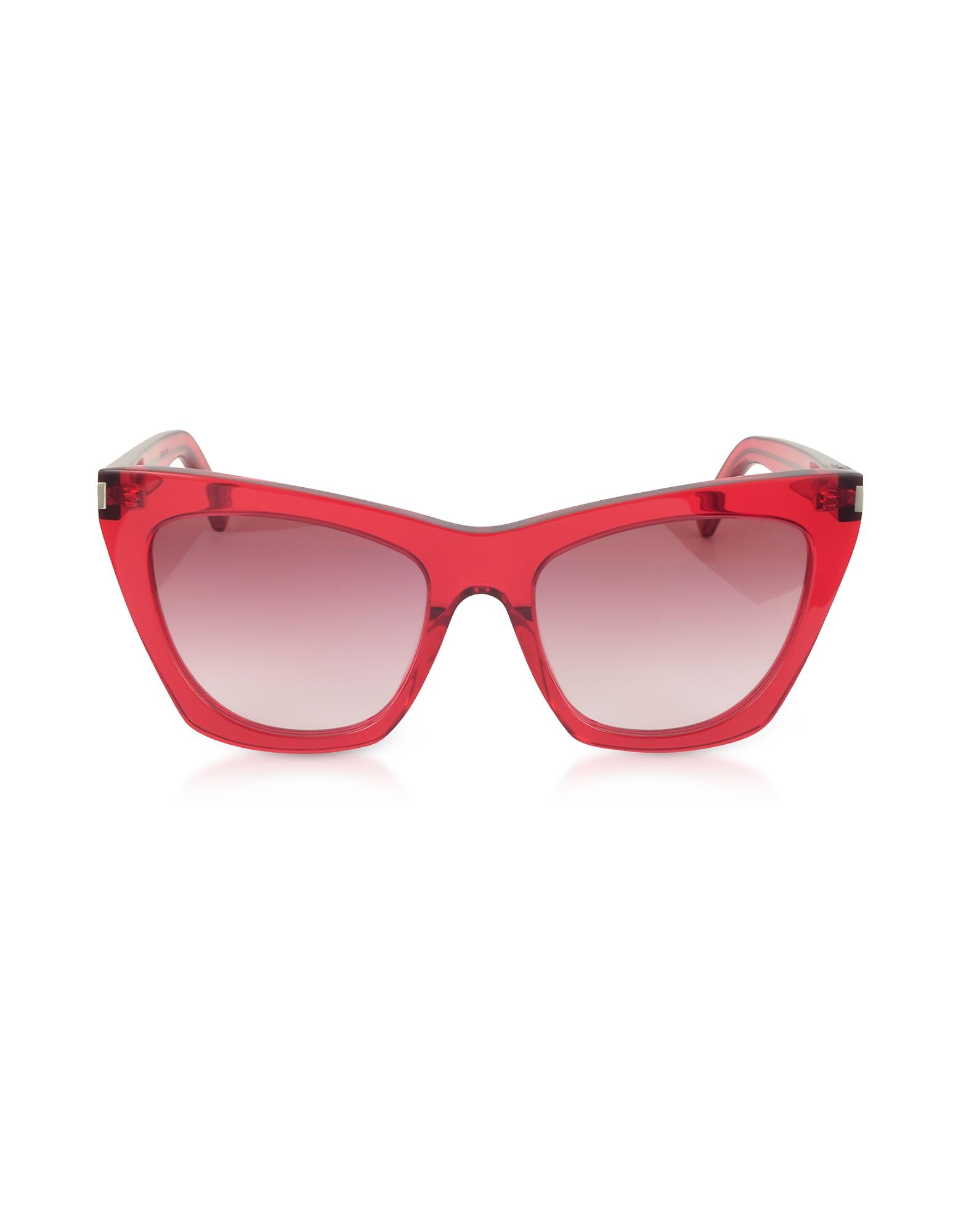 Saint Laurent Designer Sunglasses, New Wave 214 KATE Acetate Sunglasses