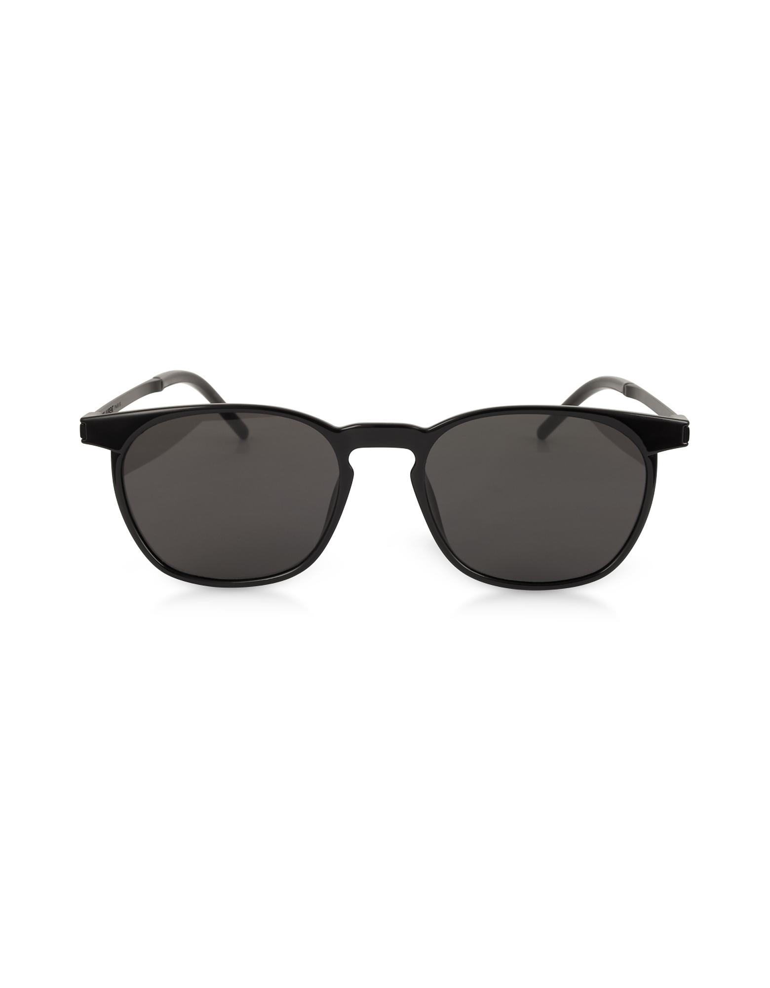 Saint Laurent Sunglasses, SL 240 Acetate and Metal Squared Men's Sunglasses