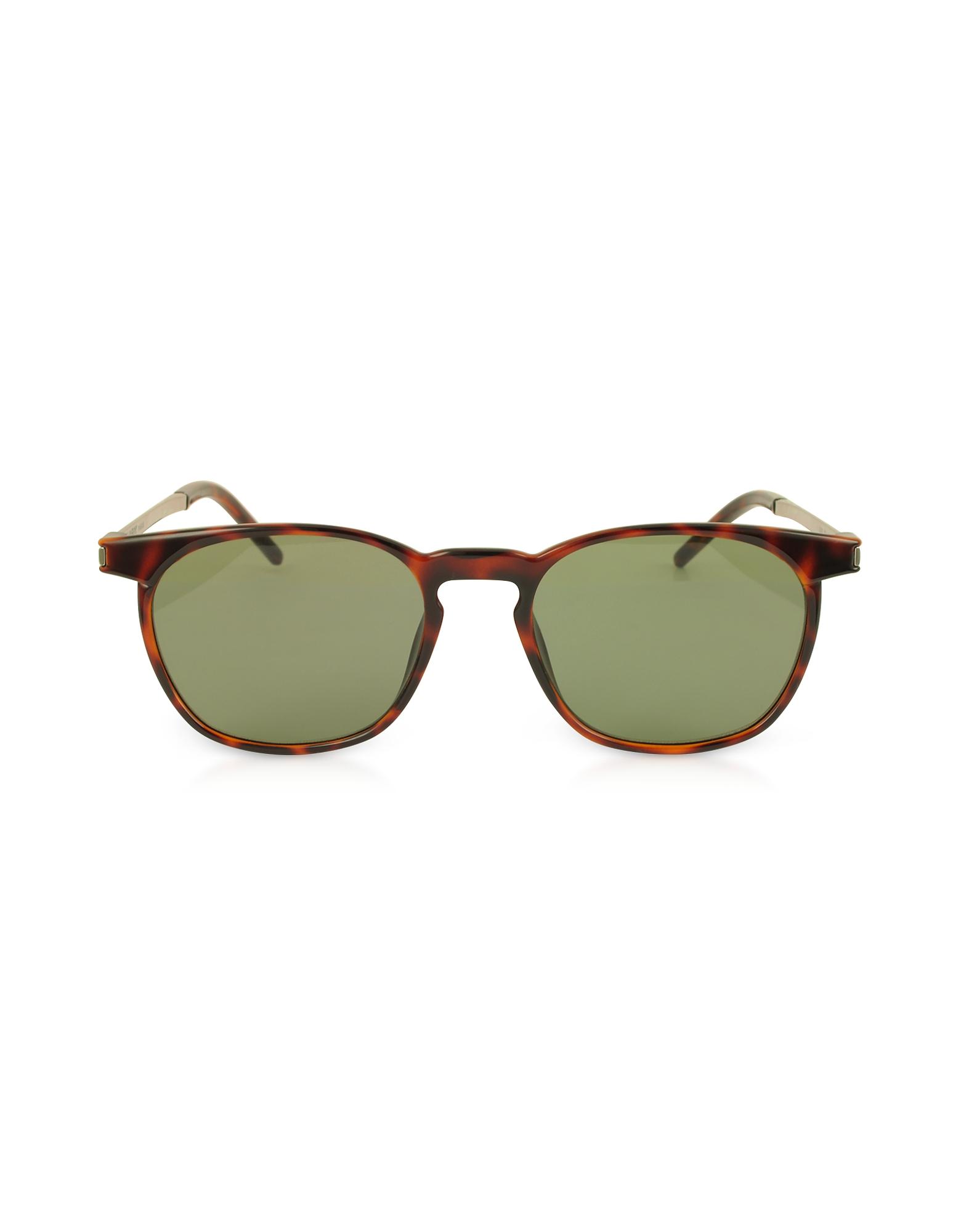 Saint Laurent Designer Sunglasses, SL 240 Acetate and Metal Squared Men's Sunglasses